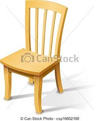 wooden chair clipart. Simple Wooden Wooden Chair  Csp16802168 In Chair Clipart