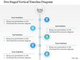 Vertical Timeline Powerpoint Business Diagram Five Staged Vertical Timeline Diagram