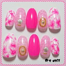 メルカリ ⑦ジェルネイル ピンク夏 ネイルチップ つけ爪 ネイル