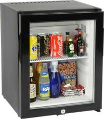 glass door mini bar