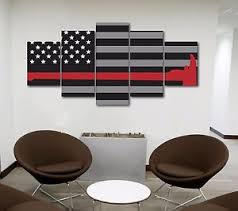 image is loading large firefighters red axe american flag canvas print  on large canvas wall art ebay with large firefighters red axe american flag canvas print wall art home