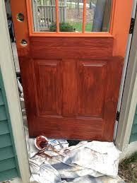 applying faux woodgrain door