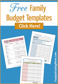 Free Family Budget Templates Organize Your Familys Budget