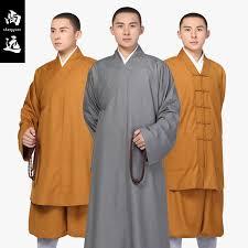 Shang Yuan spring and autumn monks dress short Luohan suit monks dress long  monks and monks dress men and women monk clothing