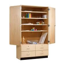 tall wood storage cabinet. Tall Wood Storage Cabinet W Drawers 48 X 22 D 84 H S