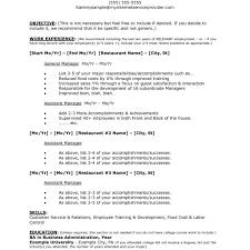 Easy Resume Cover Letter Examples Restaurant With Restaurant