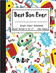 Best Son Ever Graph Paper Notebook Quad Ruled 5 Squares