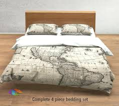world map duvet cover vintage map bedding vintage old map duvet cover antique map queen king world map