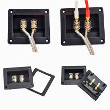 2pcshigh quality two speaker junction box connector speaker board audio accessories thickened audio wiring panel copper
