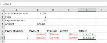 loan amortizing loan amortization schedule in excel easy excel tutorial