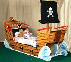 childs pirate bed natural wood pirate ship bed pirate toddler bedding uk