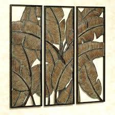 leaf metal wall decor palm