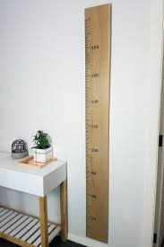 Wooden Height Chart Ruler In White Oak Plain Or Personalised