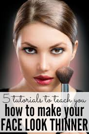5 tutorials on how to slim your face with makeup