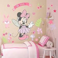 pink minnie wall sticker cute cartoon mouse wall stickers art vi