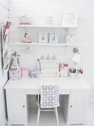 Girly White Workspace Wall