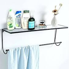 acrylic floating shelves wall mounted shelf organizer rack with black metal frame and towel bar clear acrylic floating shelves