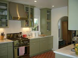 Stunning Green Kitchen Cabinets On Home Remodel Concept With The