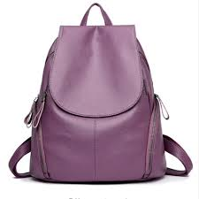 leather backpack lilac
