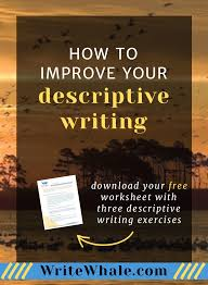 how to improve your descriptive writing worksheet included  improve descriptions in your writing click through for a worksheet the biggest misconception