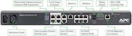apc nbrk0250 netbotz rack monitor 250 comms express best in class value