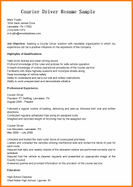 Nice Courier Driver Resume Examples Gallery Entry Level Resume