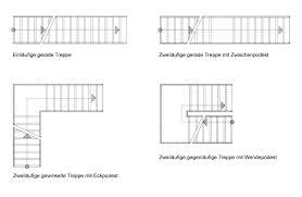 (b) zweiläufig gegenläufige treppe mit zwischenpodest; Gerade Treppen Treppen Treppenformen Baunetz Wissen
