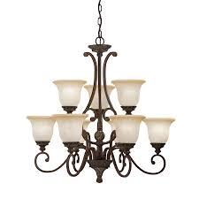 portfolio lola 31 in 9 light golden bronze standard chandelier