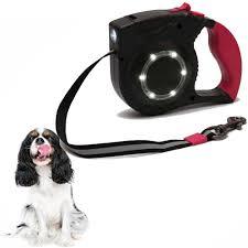Led Lights For Dog Walking Retractable Dog Leash Walking 5m Leash With Led Light For Medium Small Dogs Pl025