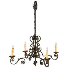 french wrought iron chandelier p this french wrought iron chandelier is made of forged