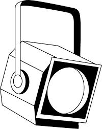 イラストポップ 学校のイラスト クラブ2 No29照明の無料素材