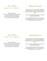 spring garden funeral card template apple pages