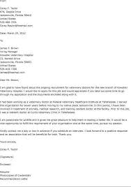 Cover Letter For Veterinarian 18 10 Veterinary Assistant