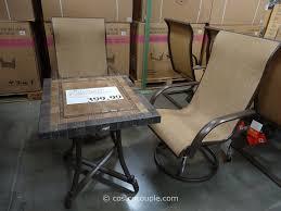 nice patio chairs costco agio international 3 piece sling cafe set