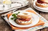 bacon cream cheese bagel sandwich