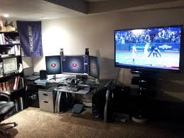 image cool home office. bow down to the monitors mega tv image cool home office