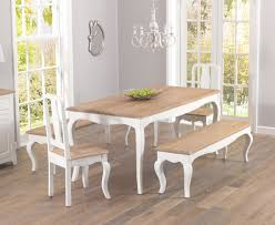 dining table with 2 chairs and bench. mark harris sienna shabby chic 175cm dining set with 2 chairs and benches table bench