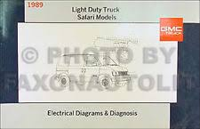 gmc safari manuals literature 1989 gmc safari van wiring diagram manual original electrical schematics 89