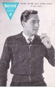 Vintage Knitting Patterns Mesmerizing Free Vintage Knitting Pattern Men's Lumber Jacket From 48s The