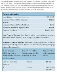 Estimate Credit Card Interest Solved Kevin Moore Received His Monthly Credit Card State