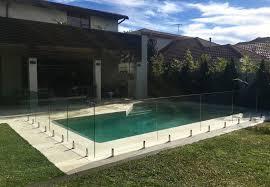 quantum diamond spigot core drilled frameless pool fence