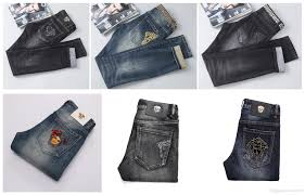 Where Can I Buy Designer Jeans For Cheap 2019 New Streetwear Hot Sale Mens Designer Jeans Elastic Straight Patches Ripped Jeans Slim Fit Classic Jeans