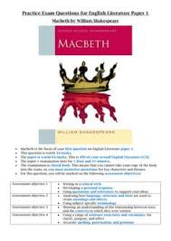 macbeth aqa new spec question model answer and macbeth extracts and essay questions aqa