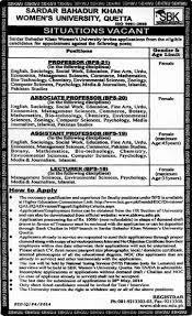 sbkwu jobs for teaching faculty sardar bahadur khan sbkwu jobs 2014 for teaching faculty sardar bahadur khan women s university