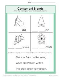 Phonics printable worksheets and activities (word families). Consonant Blends Worksheet Phonics