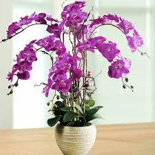 Artificial Phalaenopsis Purple Orchid Arrangement