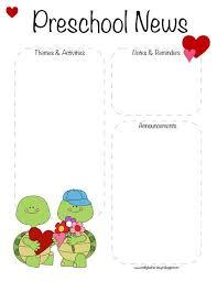 Preschool Valentines Day February Newsletter Template