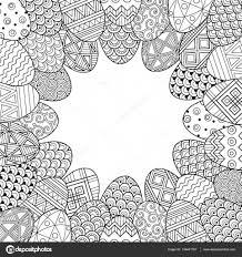Immagini Vignette Doodle Buona Pasqua Tonda Vignette Di Uova Di