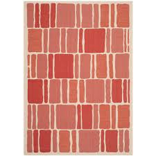 safavieh martha stewart beige red 7 ft x 10 ft indoor o