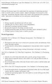Purchasing Agent Resume Professional Resume Templates